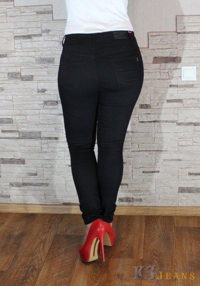 Черные узкие джинсы женские  VIP