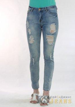 Рваные узкие джинсы ZARA