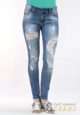 Узкие джинсы женские рваные