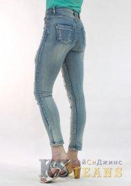 Узкие джинсы женские рваные ZARA