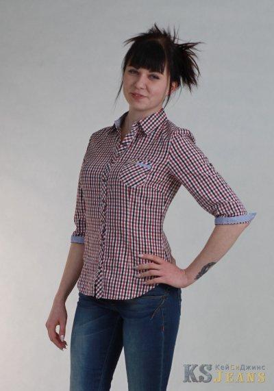 Рубашка в клетку женская BASE