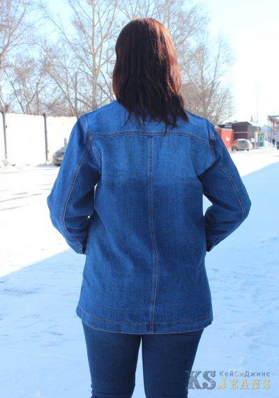 Джинсовая куртка больших размеров VIORA